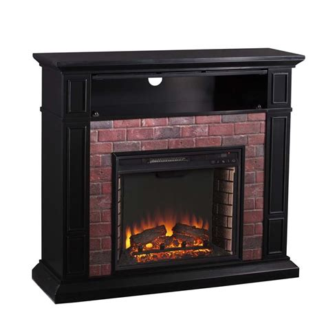 electric brick fireplace southern enterprises kyledale faux brick electric