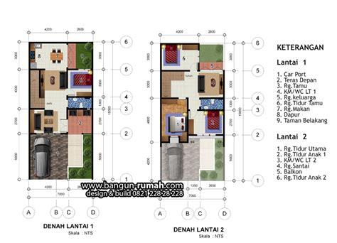 layout rumah lebar 10 meter denah rumah 2 lantai lebar 7 meter x 15 meter desain