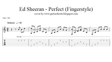 ed sheeran perfect original key guitar sheet google