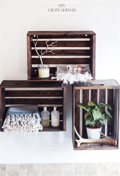 diy crate shelves the blondielocks style