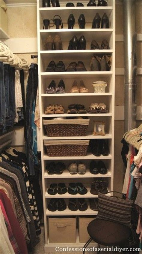 walk in closet shoe storage walk in closet organizers do it yourself woodworking