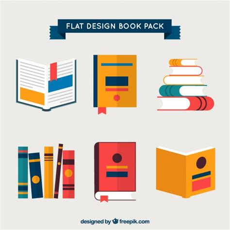 book layout eps books pack in flat design vector premium download