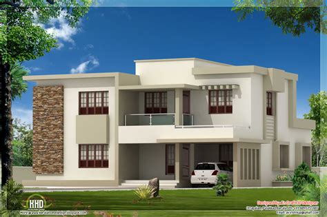 house flat design 4 bedroom contemporary flat roof home design kerala home