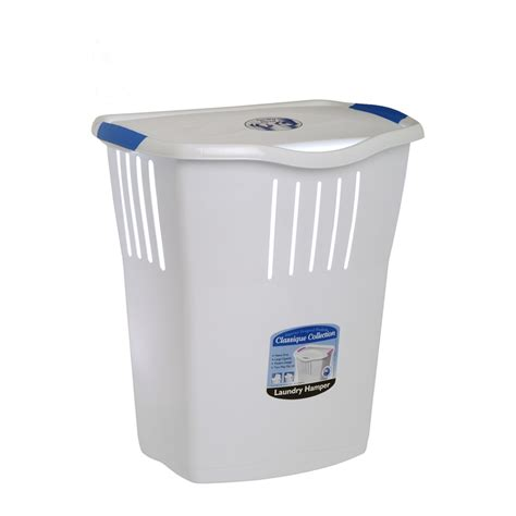 Willow 65l White Laundry Her Bunnings Warehouse Small Laundry With Lid