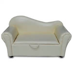 sofa kinder kindersofa in cremefarbener lederoptik mit stauraum