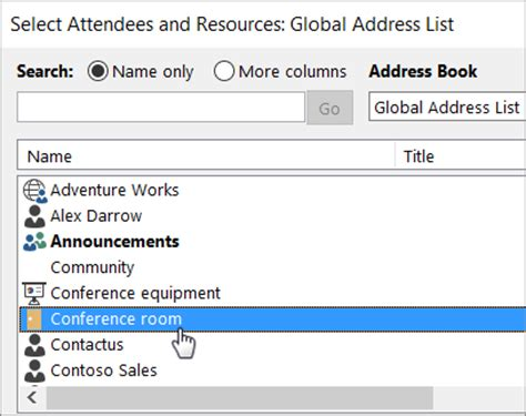 How To Reserve A Room In Outlook by Room And Equipment Mailboxes Office 365