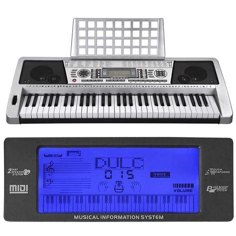 Keyboard Piano Techno lcd 61 key midi silver electric keyboard digital personal electronic piano ebay