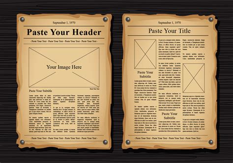 vintage newspaper template newspaper vector templates free vector