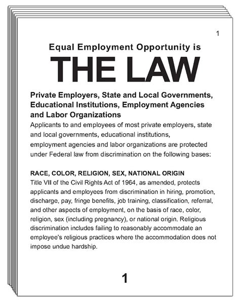 printable equal employment opportunity poster large print federal equal employment opportunity is the