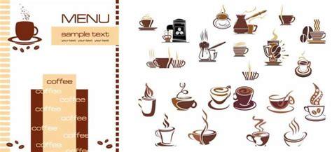 カフェ 喫茶の手作りメニューに カップなどクリップアートいろいろ vector free style