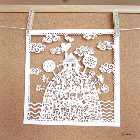 Home So by Home Sweet Home Papercut Artwork