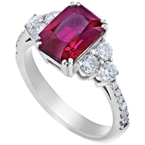 ruby 3 3crt 3 99 carat burma ruby gold ring for sale at 1stdibs
