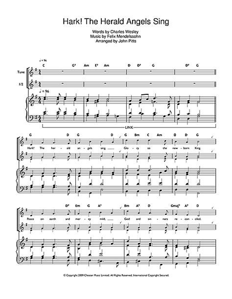 hark the herald sing testo hark the herald sing sheet by