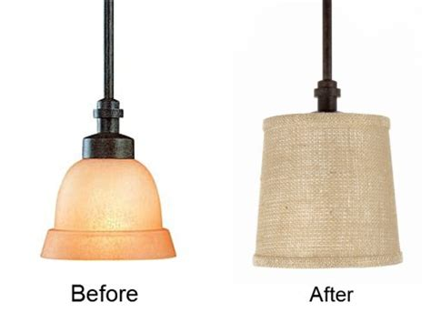 Glass Pendant L Shade Replacements by Pendant Light Burlap Drum Shade Refit For Glass