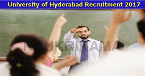 Mba Assistant Professor In Hyderabad by Of Hyderabad Assistant Professor 2017