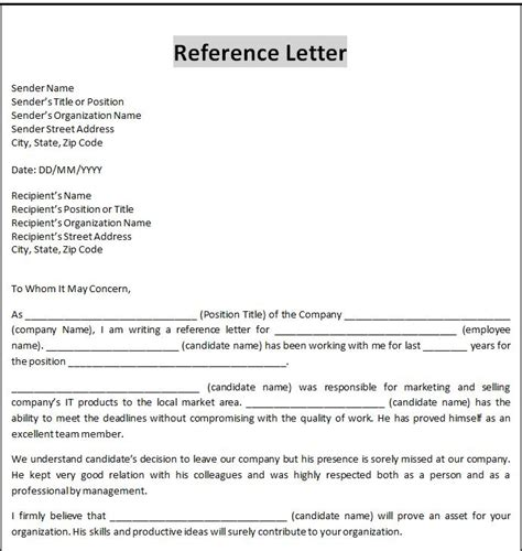 template of a business letter formal business letter template word