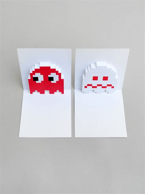 Sorry Pop Up Card Template by Pacman Ghost Popup Cards Minieco
