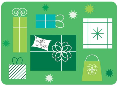 Gift Card Production - holiday gift card in green sherry sink web design