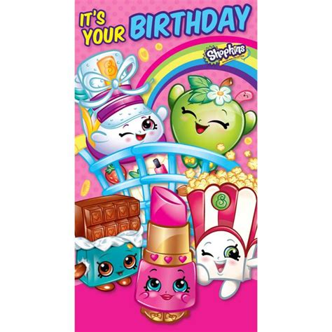 Shopkins Pink Cart shopkins birthday cards ebay