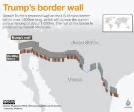 wall between us and mexico map s border wall explained mexico al jazeera