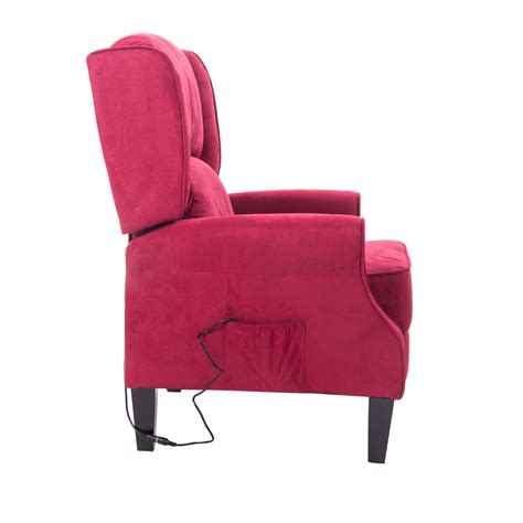 Vibrating Chair by Homcom Heated Vibrating Suede Recliner Chair