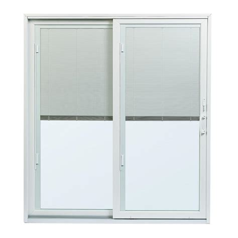 Single Patio Door With Built In Blinds by Andersen 70 1 2 In X79 1 2 In 200 Series White Left