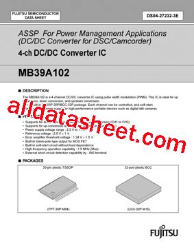 transistor a102 datasheet mb39a102 05 データシート pdf fujitsu component limited