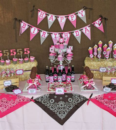 printable cowgirl party decorations cowgirl birthday party ideas photo 1 of 39 catch my party
