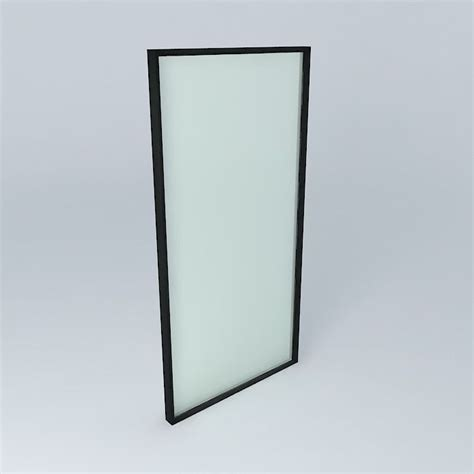 3d window with frame and glass detail free 3d model