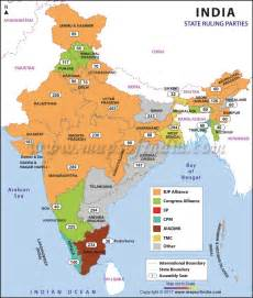 India Map States by Map Of India Political With States