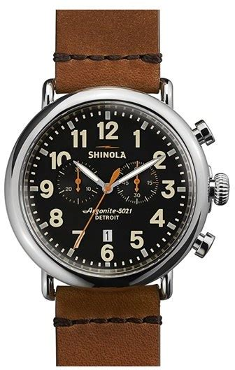 Alba Original 47mm shinola the runwell chrono leather 47mm