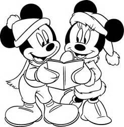 Printable free disney christmas coloring pages