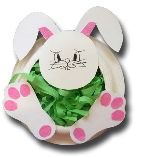 Paper Easter Crafts - paper crafts for children 187 paper plate easter bunny basket