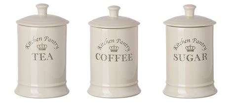 majestic tea coffee sugar canisters set kitchen