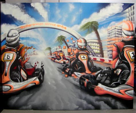 Wall Murals Art sodi racing team nz murals and graffiti art