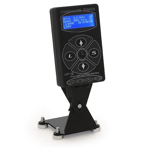 tattoo equipment ta the quot hurricane quot power supply in black wall and desk mount