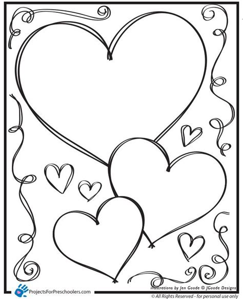 valentine coloring pages for preschool 1000 images about valentines day coloring pages on