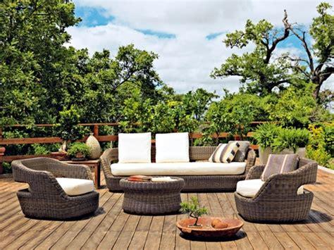 set in a mediterranean style garden paradise rattan