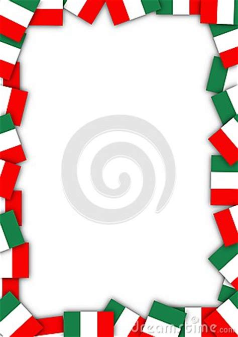 italy flag border royalty  stock  image