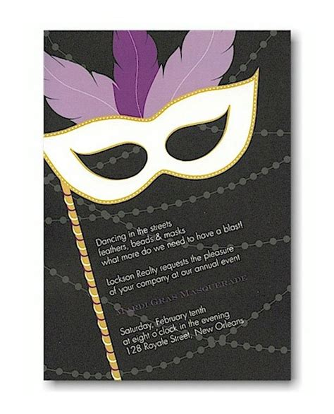 prom invite ideas mardi gras masquerade prom invitation prom invitations
