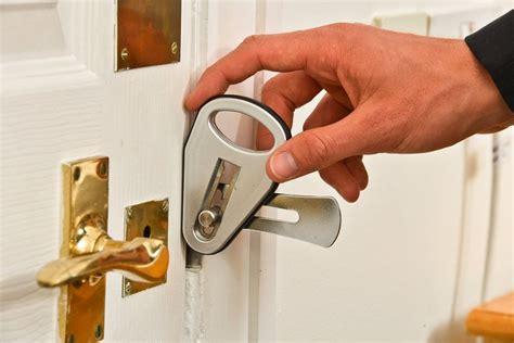 Portable Door Lock by Secure Temporary Door Locks Portable Lock