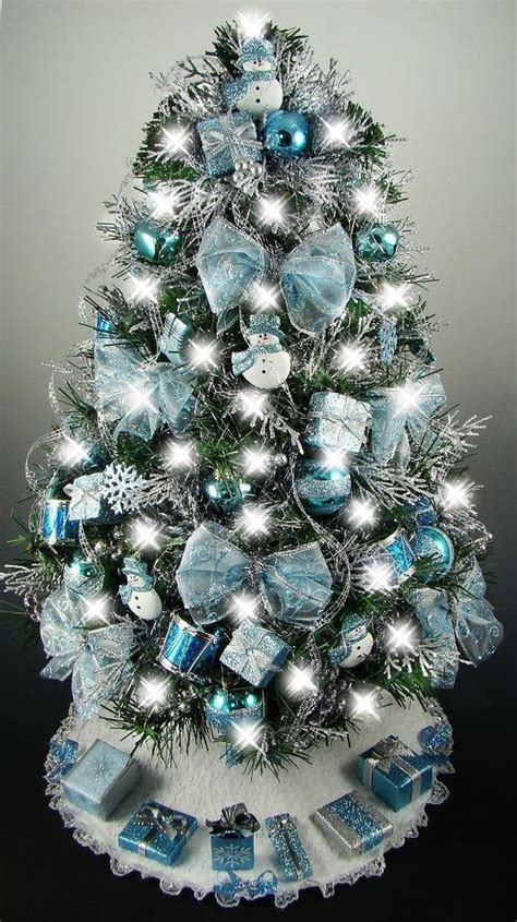 mesmerizing blue christmas tree decoration ideas