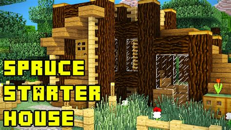 how to create a house minecraft spruce forest starter house base tutorial xbox