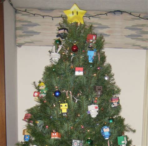 a jolly gallery of video game themed christmas trees and