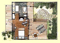 carneros inn floor plans floor plan of a standard king bedded cottage at carneros
