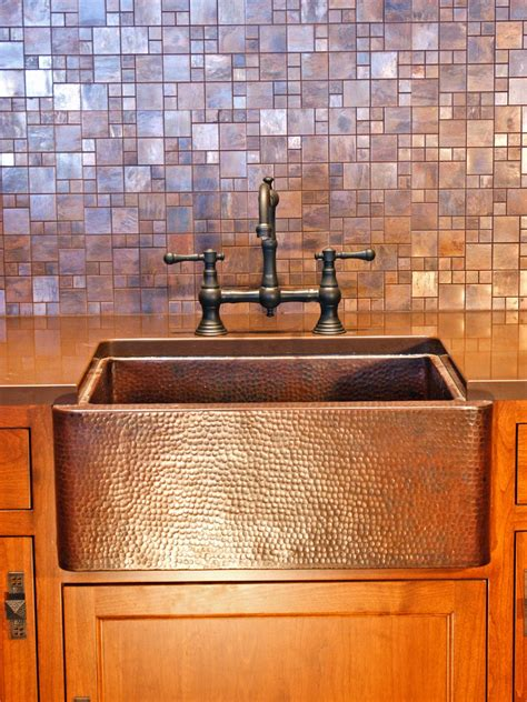copper tile backsplash photos hgtv