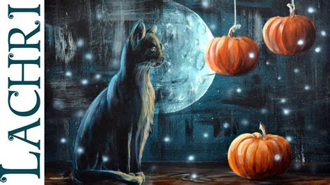 cat painting tips black cat and pumpkin acrylic painting tips and