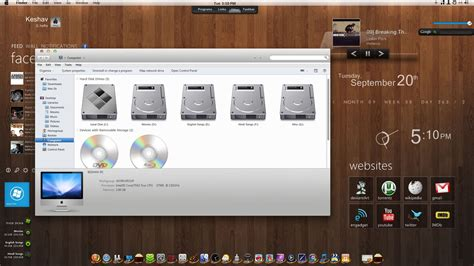 themes for windows 7 to mac mac rainmeter for windows 7 by imcoolkk on deviantart