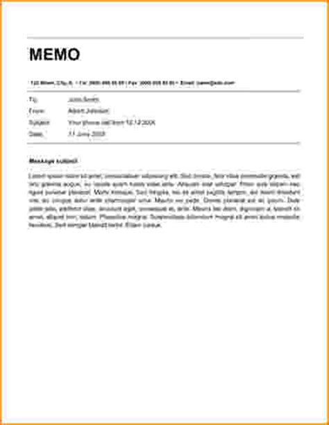 Memo Template Word 8 Memorandum Template Word Bibliography Format