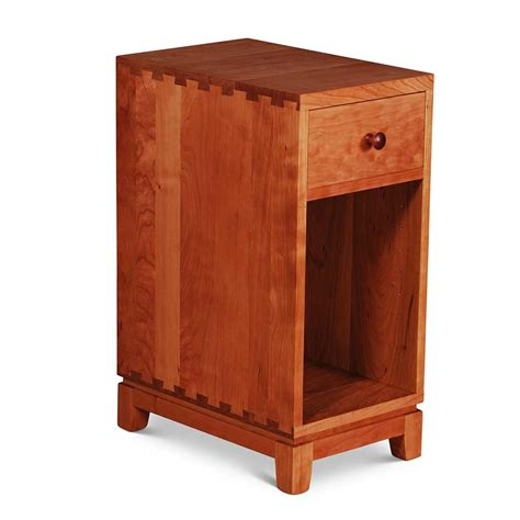 nightstands for small bedroom narrow dovetail one drawer nightstand scott jordan furniture
